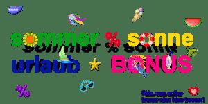 Skin care online - SommerSonneUrlaubsBonus